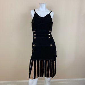 Dubai Black Fringe Party Dress